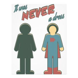 It Was Never A Dress - Wonder Super Girl Woman Letterhead