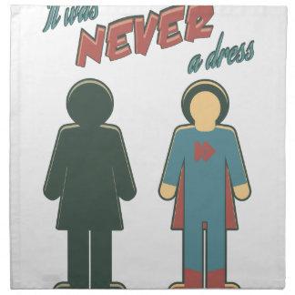 It Was Never A Dress - Wonder Super Girl Woman Napkin