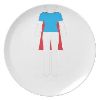 It Was Never A Dress - Wonder Super Girl Woman Plate