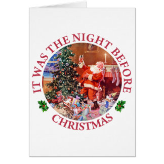 It Was The Night Before Christmas Greeting Card