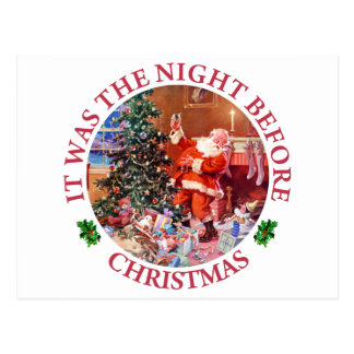It Was The Night Before Christmas Post Card