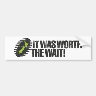 It Was Worth The Wait NZ Bumper Sticker