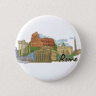It Wasn't Built In A Day (Rome) 2 Inch Round Button