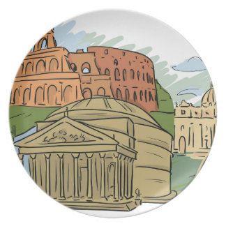 It Wasn't Built In A Day (Rome) Plate
