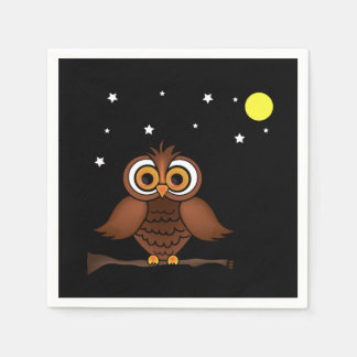 It Will Be A Hoot! Halloween Party Paper Napkins