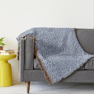 Itajime Shibori Blue Check Textile Geometric Look Throw Blanket