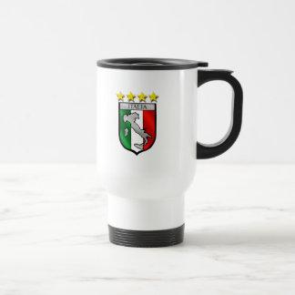 italia 4 stars world champions soccer gifts travel mug