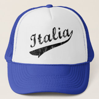 Italia Baseball Logo Retro Trucker Hat