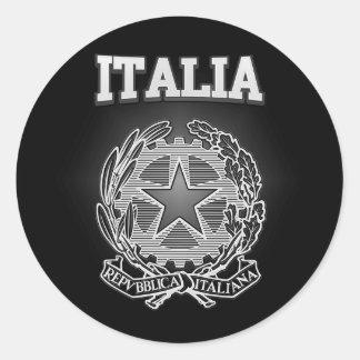 Italia Coat of Arms Classic Round Sticker