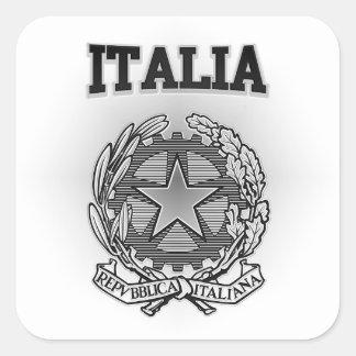 Italia Coat of Arms Square Sticker