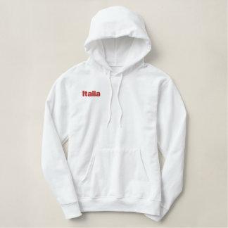 Italia Embroidered Italian flag of Italy hoodie