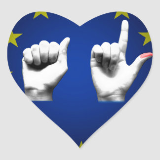 italia europe black heart sticker