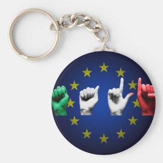 italia europe black keychain