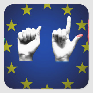 italia europe black square sticker