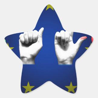 italia europe black star sticker