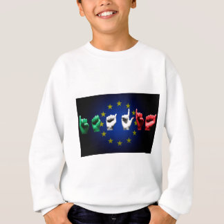italia europe black sweatshirt