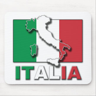 Italia Flag Land Mouse Pad