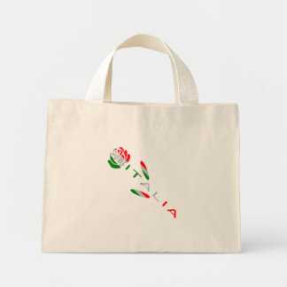 Italia Flag Rose Mini Tote Bag