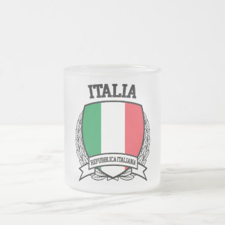 Italia Frosted Glass Coffee Mug