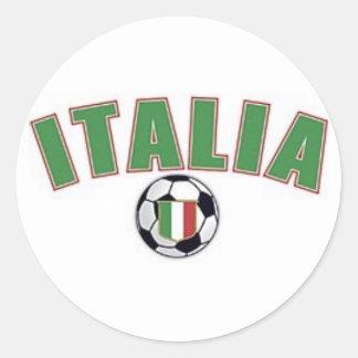 italia futbol classic round sticker
