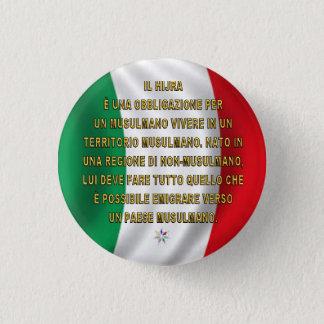 ITALIA HIJRA swipes in 1 Inch Round Button