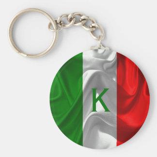 Italia Italiano Italo Flag Fabric Imitation Keychain