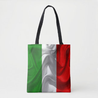 Italia Italiano Italo Flag Fabric Imitation Tote Bag