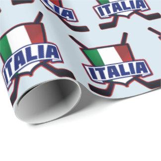 Italia Italy Ice Hockey Logo Gift Wrap