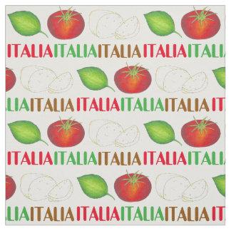 Italia Italy Mozzarella Tomato Basil Food Fabric