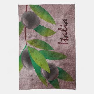 Italia Olives Kitchen Towel