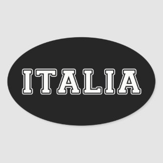 Italia Oval Sticker