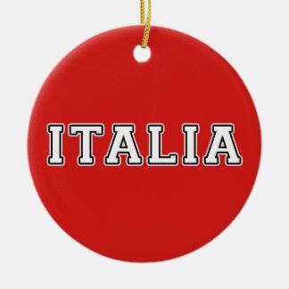 Italia Round Ceramic Ornament