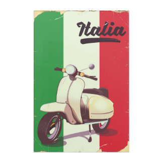 Italia Scooter Vintage travel poster Acrylic Print