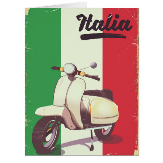 Italia Scooter Vintage travel poster Card