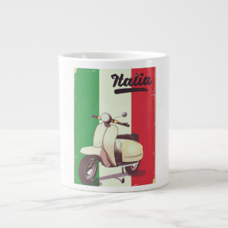 Italia Scooter Vintage travel poster Large Coffee Mug