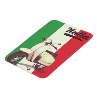 Italia Scooter Vintage travel poster Magnet