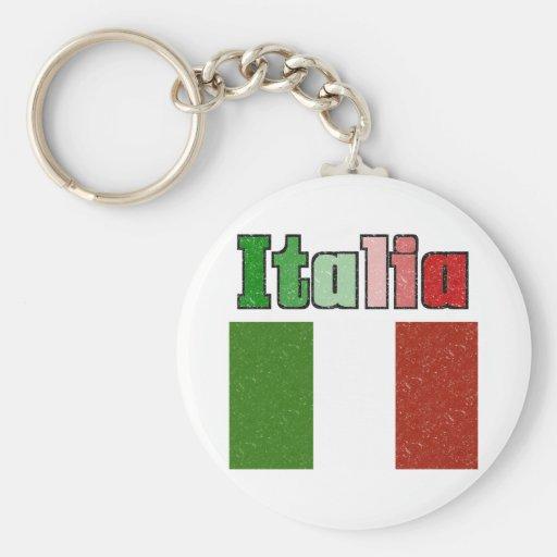 Italia Vintage Flag Keychain