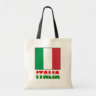 Italia With The Flag of Italy Tote Bag