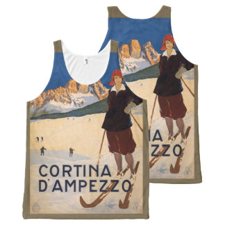 Italian Alps Vintage Travel Poster tank top