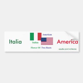 Italian-American Bumper Sticker