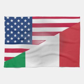 """Italian American Cloth Flag 16"""" x 24"""""""