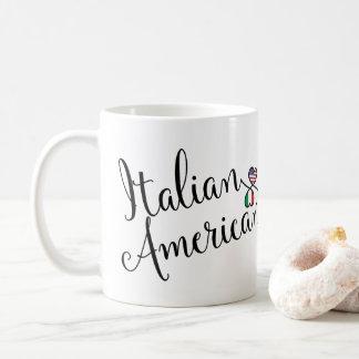 Italian American Entwined Hearts Mug