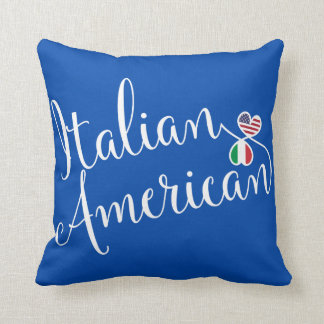 Italian American Entwined Hearts Throw Cushion
