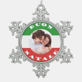 Italian-American Family Photo Christmas Ornament