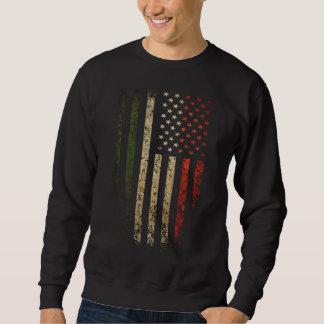 Italian American Flag Grunge Sweatshirt