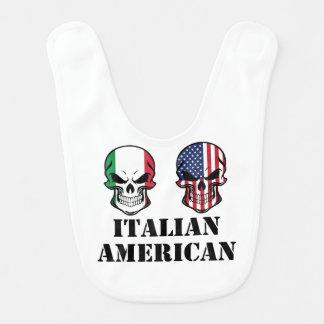Italian American Flag Skulls Bib