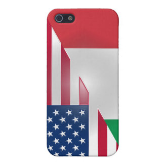 Italian American Flag Sticky Apple iPad Case iPhone 5 Cover
