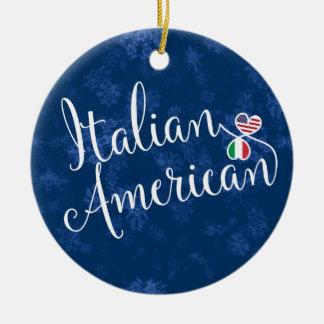 Italian American Hearts Flags Holiday Decoration
