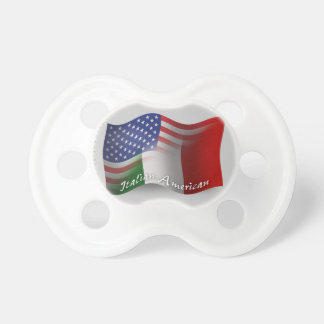 Italian-American Waving Flag Pacifiers