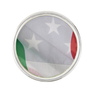 Italian and USA flags Lapel Pin